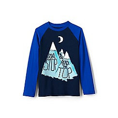 Lands' End - Blue boys' novelty graphic hoodie