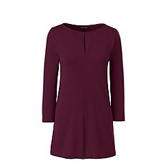 Lands' End - Red three quarter sleeve keyhole tunic