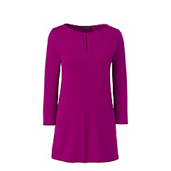 Lands' End - Pink three quarter sleeve keyhole tunic