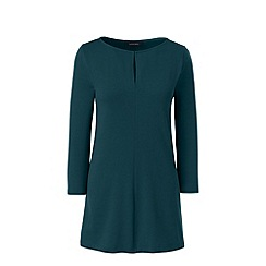 Lands' End - Green three quarter sleeve keyhole tunic