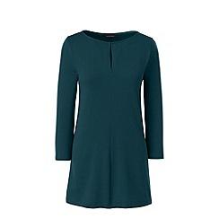 Lands' End - Green plus three quarter sleeve keyhole tunic