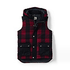 Lands' End - Red boys' fleece-lined insulated gilet
