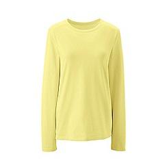 Lands' End - Yellow regular supima long sleeved crew neck t-shirt