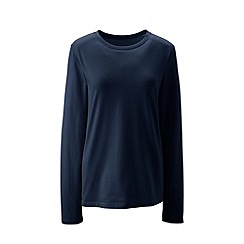 Lands' End - Blue supima long sleeved crew neck tee