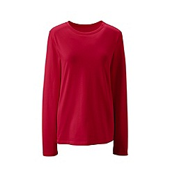 Lands' End - Red supima long sleeved crew neck tee