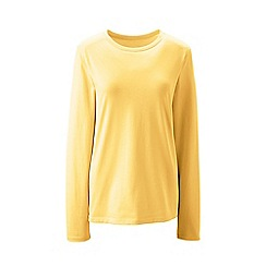 Lands' End - Yellow supima long sleeved crew neck t-shirt