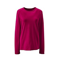 Lands' End - Pink supima long sleeved crew neck tee
