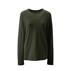 Lands' End - Green supima long sleeved crew neck tee
