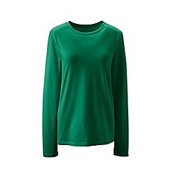 Lands' End - Green tall supima long sleeved crew neck tee