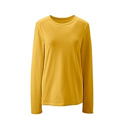Lands' End - Yellow supima long sleeved crew neck tee