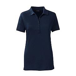 Lands' End - Blue regular short sleeve pima polo