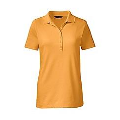 Lands' End - Orange regular short sleeve pima polo