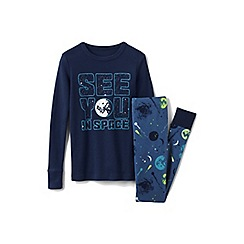 Lands' End - Blue boys' glow-in-the-dark snug fit pyjama set