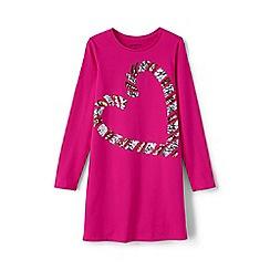 Lands' End - Pink girls' embellished t-shirt dress