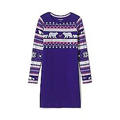 Lands' End - Blue girls' embellished t-shirt dress