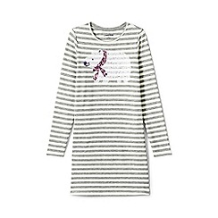 Lands' End - Beige girls' embellished t-shirt dress