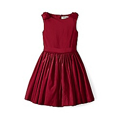 Lands' End - Red girls' sleeveless taffeta dress