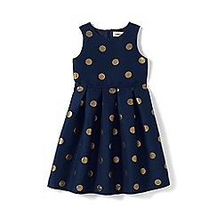 Lands' End - Blue girls' jacquard party dress