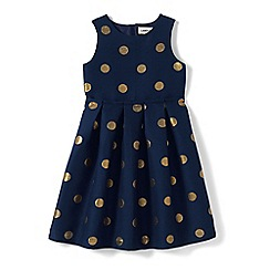 Lands' End - Blue girls' jacquard party dress