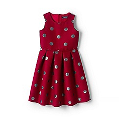 Lands' End - Girls' red jacquard party dress
