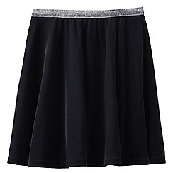 Lands' End - Black girls' velveteen skirt