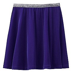 Lands' End - Purple girls' velveteen skirt
