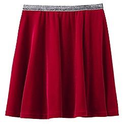 Lands' End - Red girls' velveteen skirt