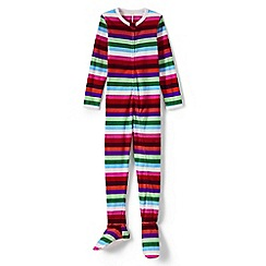 Lands' End - Multi fleece onesie