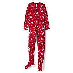Lands' End - Red fleece onesie