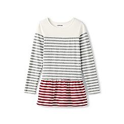Lands' End - Grey girls' colourblock skirted legging top