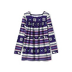Lands' End - Purple girls' pattern front legging top