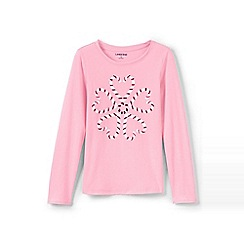 Lands' End - Pink girls' graphic tee