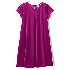 Lands' End - Pink toddler girls' short sleeve velveteen dress