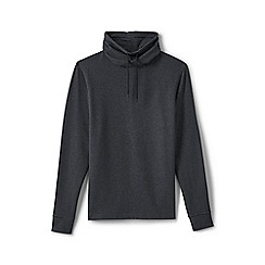 Lands' End - Grey drawstring-collar top