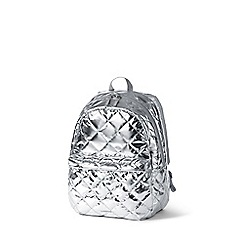 Lands' End - Girls' metallic quilted backpack