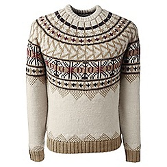 Lands' End - Beige fair isle sweater