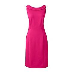 Lands' End - Pink portrait collar jersey dress