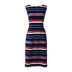 Lands' End - Multi stripe ottoman jersey darted dress