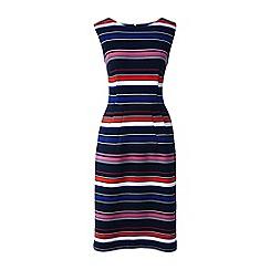 Lands' End - Multi petite stripe ottoman jersey darted dress