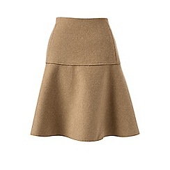Lands' End - Beige wool blend flounce skirt