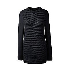 Lands' End - Black lofty cotton boatneck sweater
