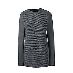 Lands' End - Grey lofty cotton boatneck sweater