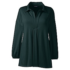 Lands' End - Green plus lightweight cotton modal pleat front popover