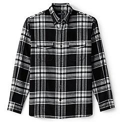 Lands' End - Black flannel workshirt
