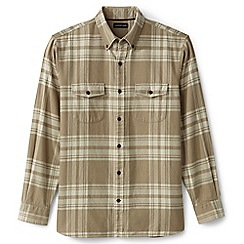 Lands' End - Beige flannel workshirt