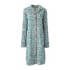 Lands' End - Green flannel patterned nightdress