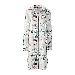 Lands' End - Cream flannel patterned nightdress