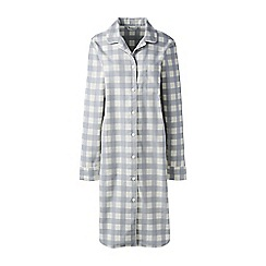 Lands' End - Cream plus flannel patterned nightdress