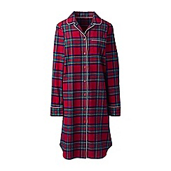 Lands' End - Red plus flannel patterned nightdress