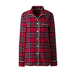 Lands' End - Red patterned flannel pyjama shirt